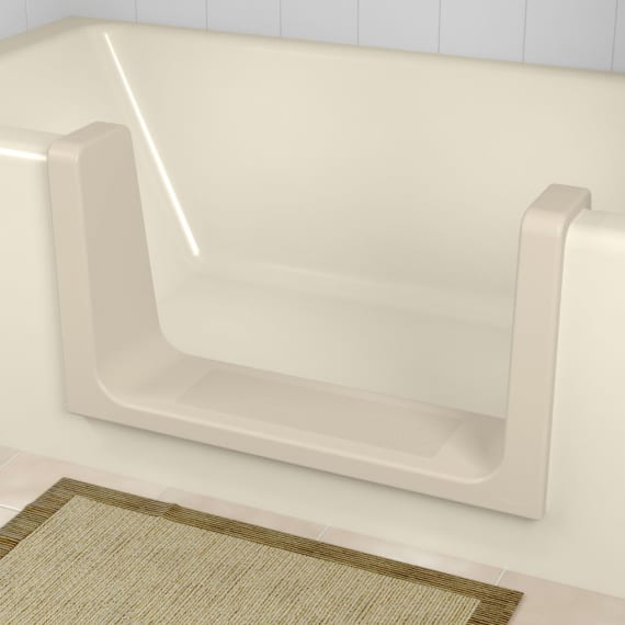 Beige CleanCut Ultra-Low tub to shower conversion kit