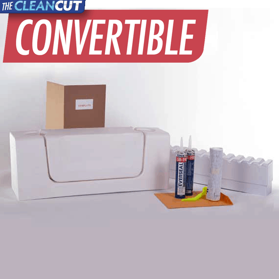 CleanCut Convertible Walk-in Tub Cut