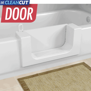 With the CleanCut Door™ bathtub cutout kit you can convert your existing bathtub into an accessible walk-in bathtub and still have a full bath!
